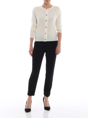 Moschino Boutique: pantaloni casual online - Pantaloni a sigaretta in crepe cady