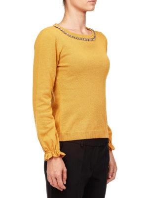Moschino Boutique: maglia collo rotondo online - Maglia girocollo con strass