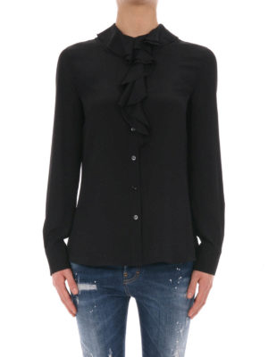 Moschino Boutique: shirts online - Silk blend decorated shirt