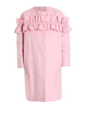 Moschino Boutique: short coats - All-around flounce insert egg coat