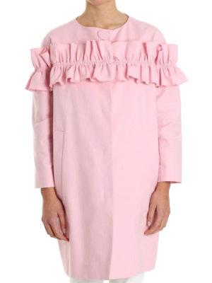 Moschino Boutique: short coats online - All-around flounce insert egg coat