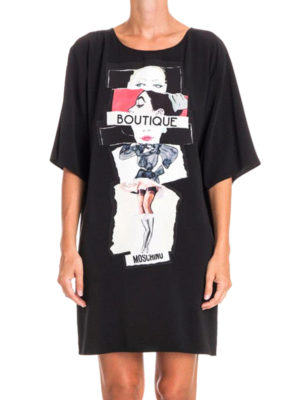 Moschino Boutique: short dresses online - Printed loose fitting dress