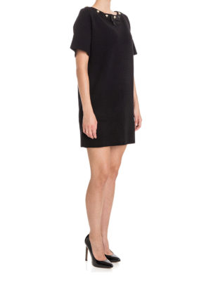 Moschino Boutique: short dresses online - Stud detailed crepe Tee dress