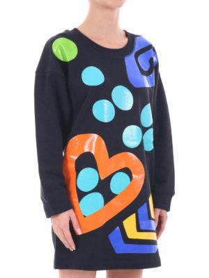 Moschino Boutique: short dresses online - Vitaminic print short fleece dress