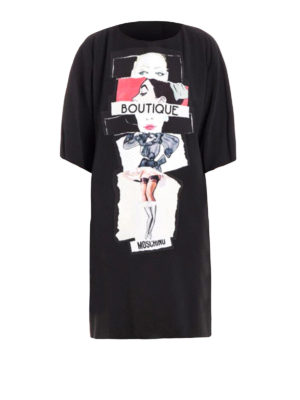 Moschino Boutique: short dresses - Printed loose fitting dress