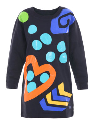 Moschino Boutique: short dresses - Vitaminic print short fleece dress