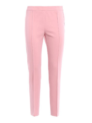 Moschino Boutique: Tailored & Formal trousers - Stretch crepe cigarette trousers