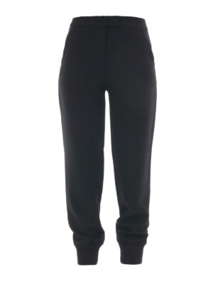 Moschino Boutique: tracksuit bottoms - Jogging trousers with knitted cuffs