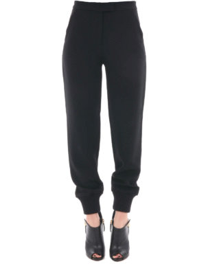 Moschino Boutique: tracksuit bottoms online - Jogging trousers with knitted cuffs
