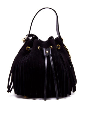 Moschino: Bucket bags - Fringe bucket bag