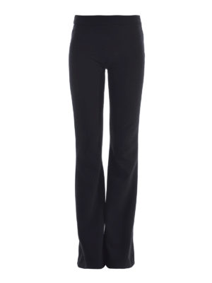 Moschino: casual trousers - Flared cady trousers