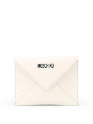 MOSCHINO: pochette - Busta in pelle I Love You