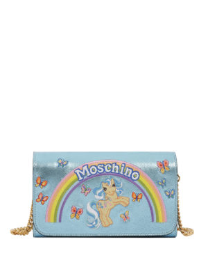 Moschino: clutches - My Little Pony embroidered clutch