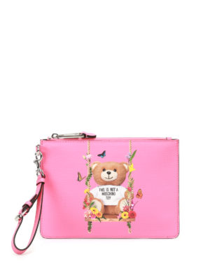 Moschino: clutches - Not A Moschino Toy pink pouch