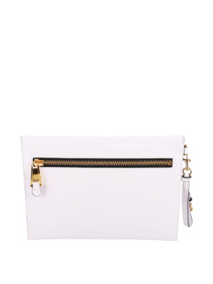 Moschino: clutches online - Leather envelope clutch