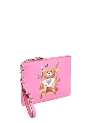 Moschino: clutches online - Not A Moschino Toy pink pouch