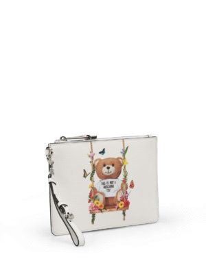 Moschino: clutches online - Not A Moschino Toy white pouch