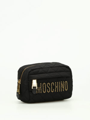 Moschino: clutches online - Quilted nylon clutch