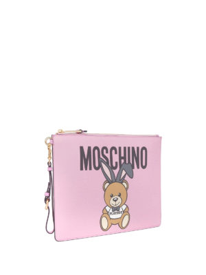 Moschino: clutches online - Ready To Bear Playboy© pink clutch