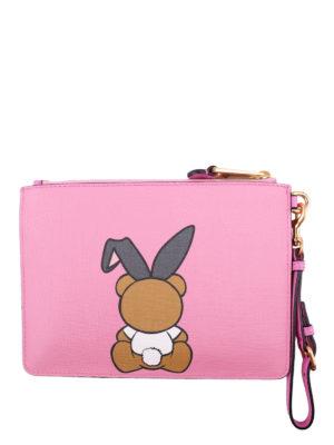 Moschino: clutches online - Teddy Playboy clutch