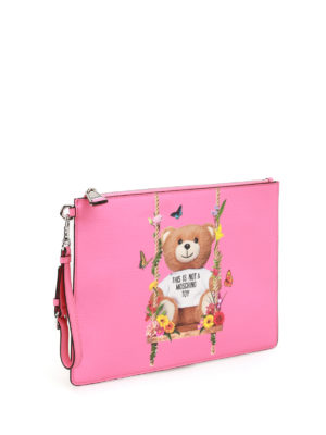 Moschino: clutches online - This Is Not A Moschino Toy pink bag