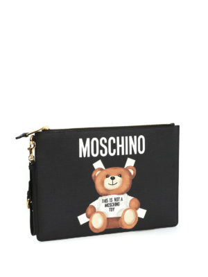 Moschino: clutches online - This is not a Moschino Toy pouch
