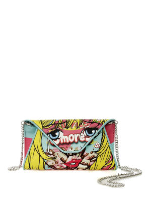MOSCHINO: pochette - Clutch in similpelle stampata