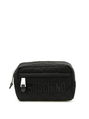 Moschino: clutches - Quilted nylon clutch