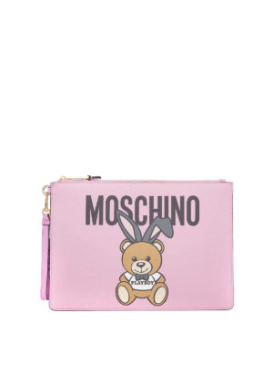 Moschino: clutches - Ready To Bear Playboy© pink clutch
