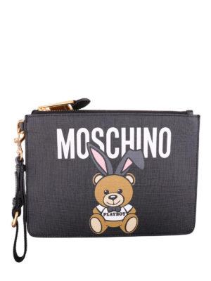 Moschino: clutches - Teddy Playboy black clutch