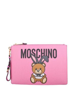 Moschino: clutches - Teddy Playboy clutch