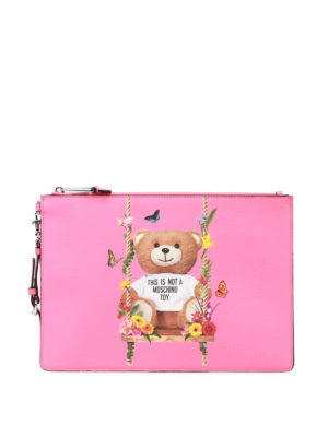 Moschino: clutches - This Is Not A Moschino Toy pink bag