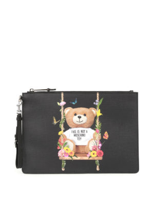Moschino: clutches - This Is Not A Moschino Toy pouch