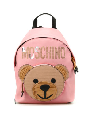Moschino Couture: backpacks - Bear pocket pink backpack
