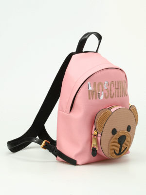 Moschino Couture: backpacks online - Bear pocket pink backpack