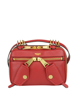 Moschino Couture: cross body bags - Leather bag with shoulder strap