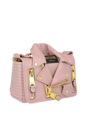Moschino Couture: cross body bags online - Leather biker jacket shaped bag