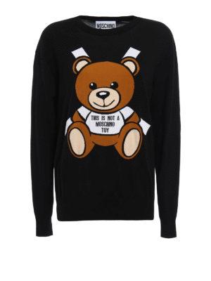 Moschino: crew necks - Bear embroidery sweater