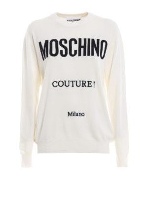 MOSCHINO: maglia collo rotondo - Pull girocollo in lana Moschino Couture