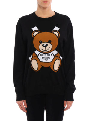 Moschino: crew necks online - Bear embroidery sweater