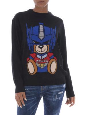 Moschino: crew necks online - Transformers Bear wool sweater