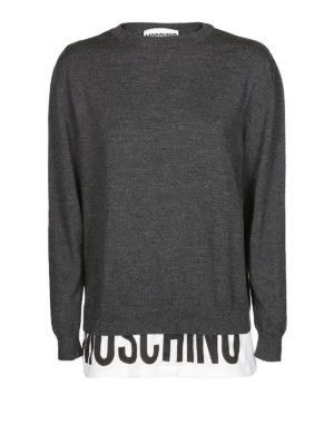 MOSCHINO: maglia collo rotondo - Pullover girocollo in lana
