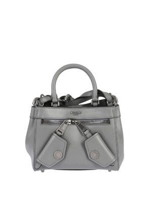 Moschino: cross body bags - B-Pocket grey deerskin handbag