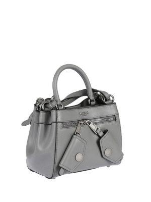 Moschino: cross body bags online - B-Pocket grey deerskin handbag