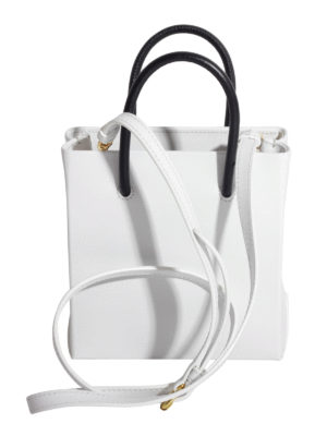 Moschino: cross body bags online - Contrasting handles leather bag
