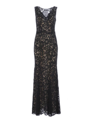 Moschino: evening dresses - Black lace sleeveless dress