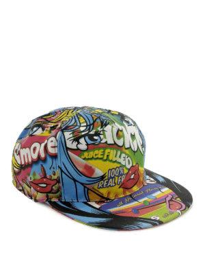 MOSCHINO: cappelli - Cappellino in tela stampata
