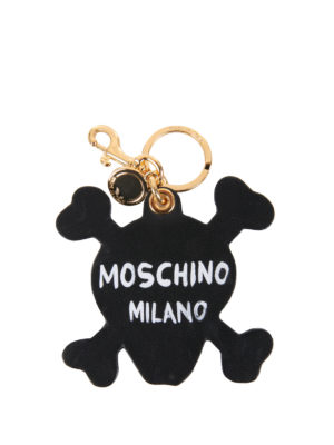 Moschino: key holders online - Skull leather key holder