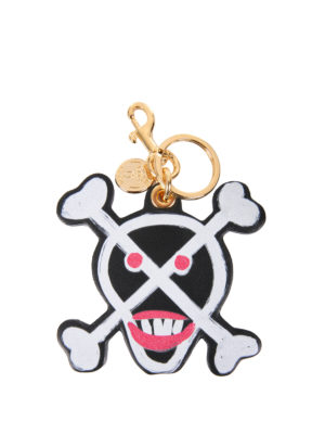 Moschino: key holders - Skull leather key holder
