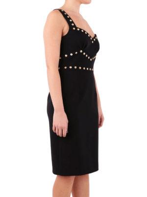 Moschino: knee length dresses online - Studs detailed knee length dress